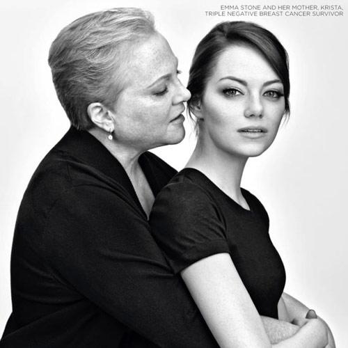 Emma Stone y su madre, solidarias contra el cáncer de mama