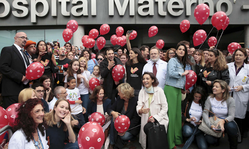 'Un mar de besos', globos y muchas sonrisas en el Día Nacional del Niño Hospitalizado