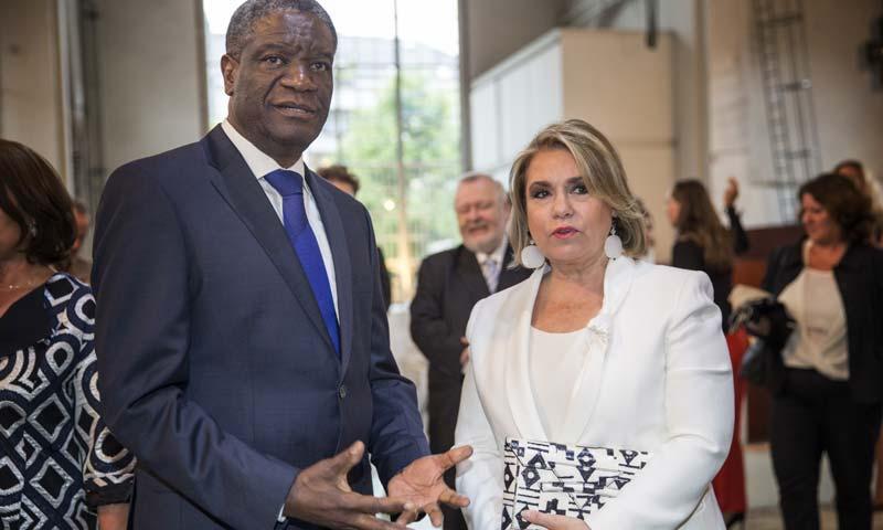 La Gran Duquesa de Luxemburgo, con las mujeres víctimas de violencia sexual en países en conflicto
