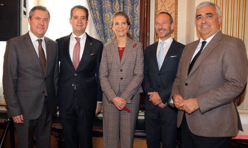 El Hotel Alfonso XIII de Sevilla cumple 90 años con la infanta Elena como invitada especial