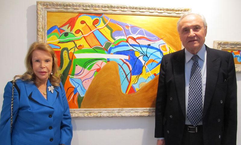 El sentido homenaje de la pintora y escultora Yolanda D'Ausburg a Galicia