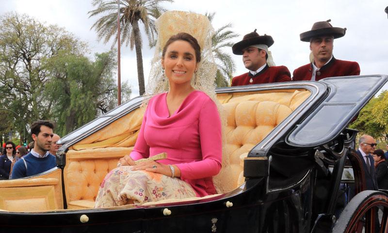 Paloma Segrelles, madrina de honor de la 'Exhibición de Enganches' de la Feria de Abril de Sevilla