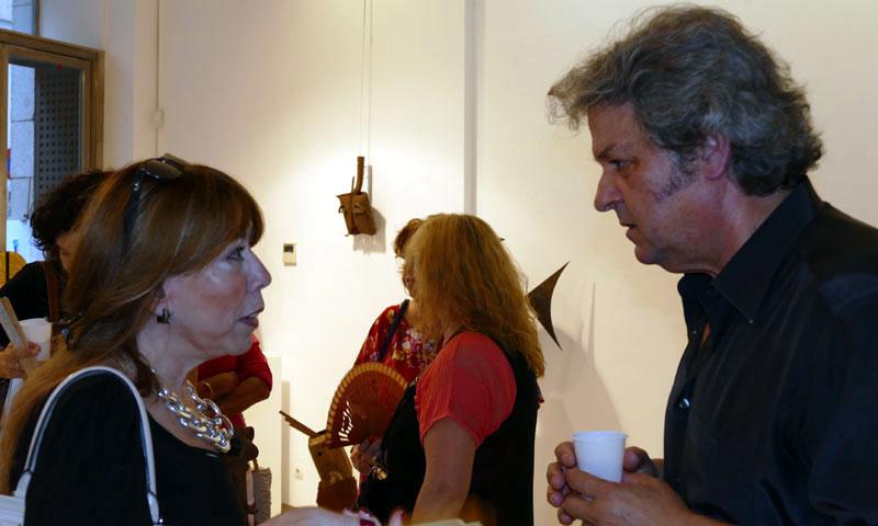El artista Eduardo Muñoz inaugura su exposición 'Óxido vivo y emotivo' en el Ateneo de Madrid
