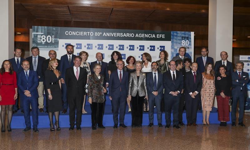 La Reina Sofía preside el concierto del 80º aniversario de la agencia EFE