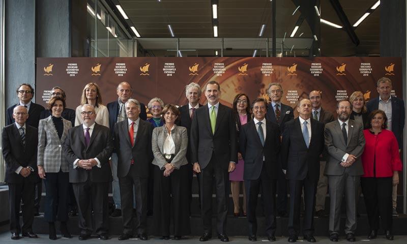 El rey Felipe VI entrega los premios de la Sociedad Geográfica Española