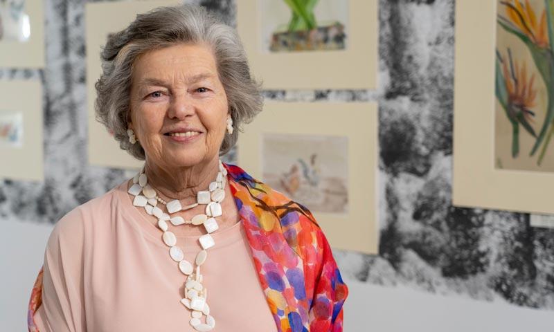 La princesa Anne d'Orléans presenta su nueva exposición de pintura