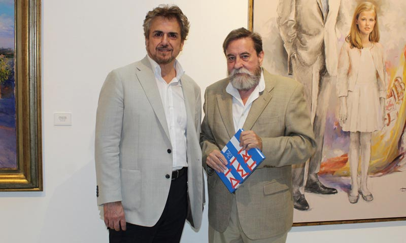 El pintor Ricardo Sanz inaugura su exposición 'El lenguaje de la luz'