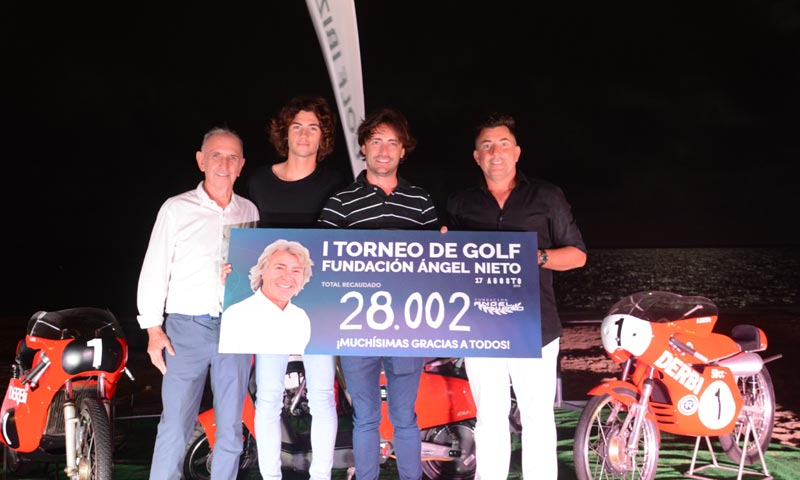 Pablo y Hugo Nieto recuerdan a su padre, Ángel Nieto, en un torneo de golf muy especial