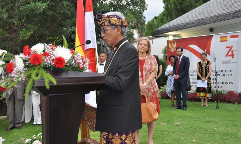 La embajada de Indonesia abre sus puertas para celebrar el 74º aniversario de su independencia