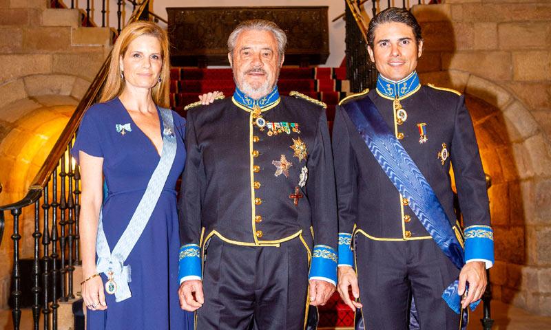 Julián Porras-Figueroa y Olivia de Borbón asisten a un acto del Cuerpo de la Nobleza asturiano