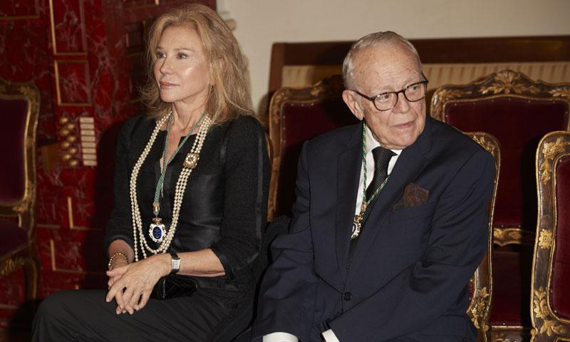 Alicia Koplowitz asiste a la entrega de la Medalla de Honor de la Real Academia de Bellas Artes