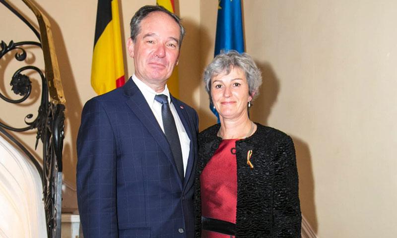 El embajador de Bélgica en España celebra la 'Fiesta del Rey'