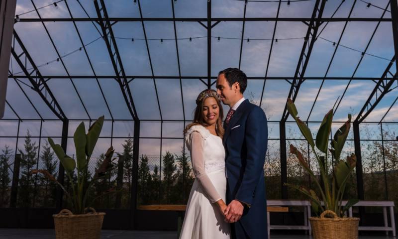 La boda de Marina y Javier en un caserío de aire toscano