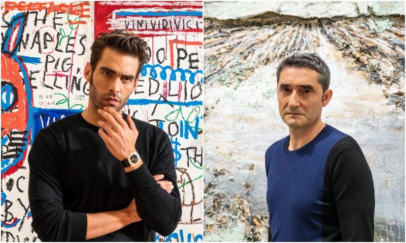 Jon Kortajarena, Itziar Ituño y Ernesto Valverde, unidos por su afición al arte