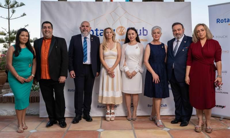 El Rotary Club Marbella International celebra su inauguración con una cena en Marbella