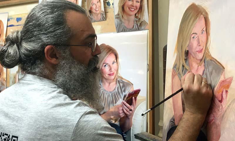 'Personas pintadas', la exposición de Gonzalo Goytisolo que invita a reflexionar sobre el género del retrato