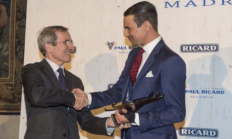 José María Manzanares galardonado con el 'V premio anual Club Taurino Paul Ricard de Madrid'