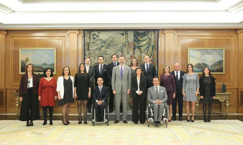 El rey Felipe, interesado por la integración de la discapacidad a través del deporte