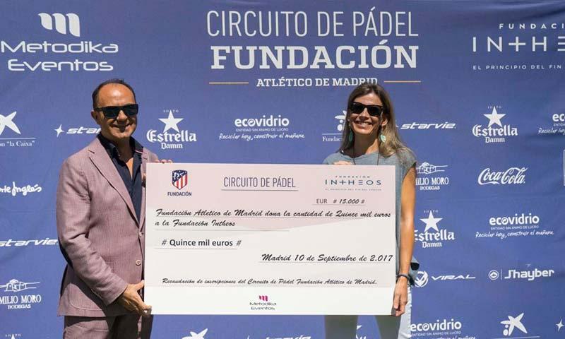 La Fundación Atlético de Madrid colabora con la Fundación Intheos en su lucha contra el cáncer
