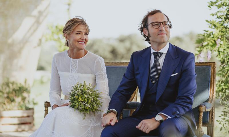 """La emotiva y """"automovilística"""" boda de María y Pablo"""