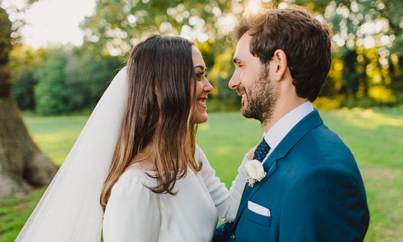 La romántica boda de Andrea y David en el Pazo gallego de Cores