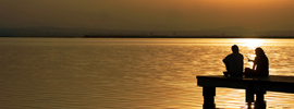 Cae el sol en la Albufera, ¿te vienes de pesca?