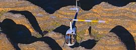 Safari aéreo sobre el cráter Wolf Creek