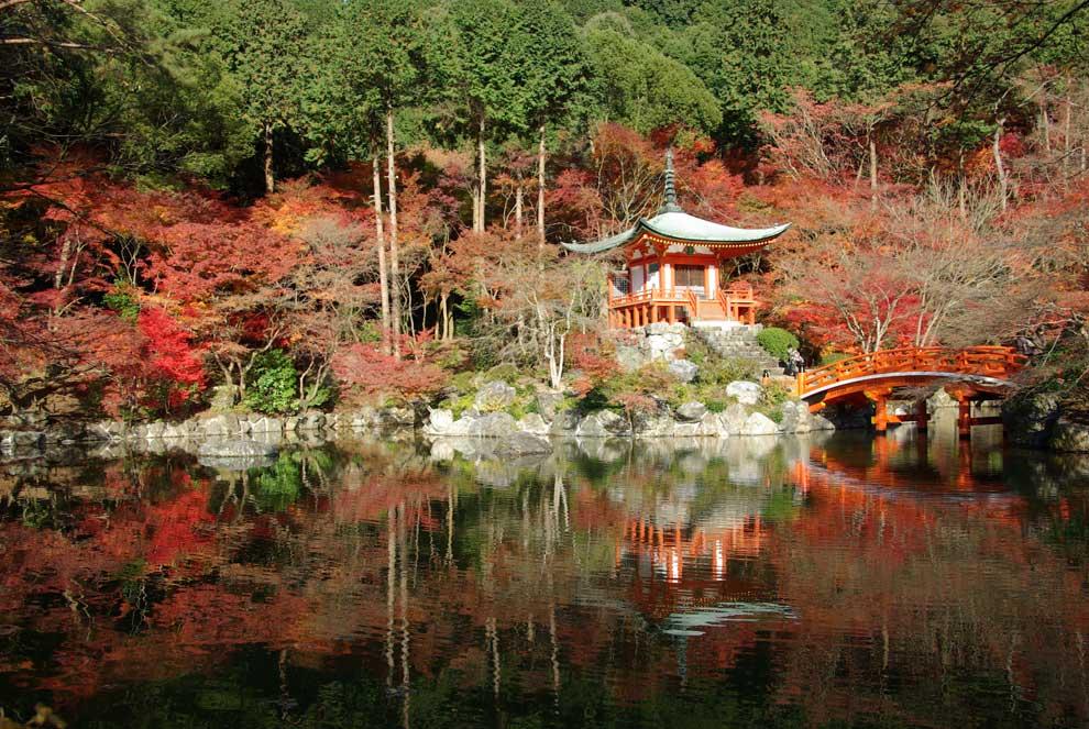 Oto o de color rojo en kyoto - Jardines de japon ...