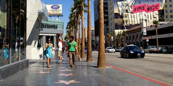 Las estrellas brillan en Los Ángeles
