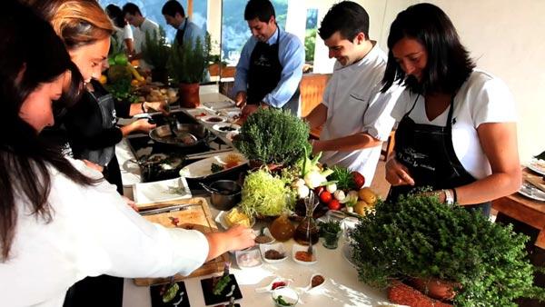 curso de cocina al aire libre