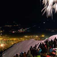 Feliz Año Nuevo en las montañas de Innsbruck