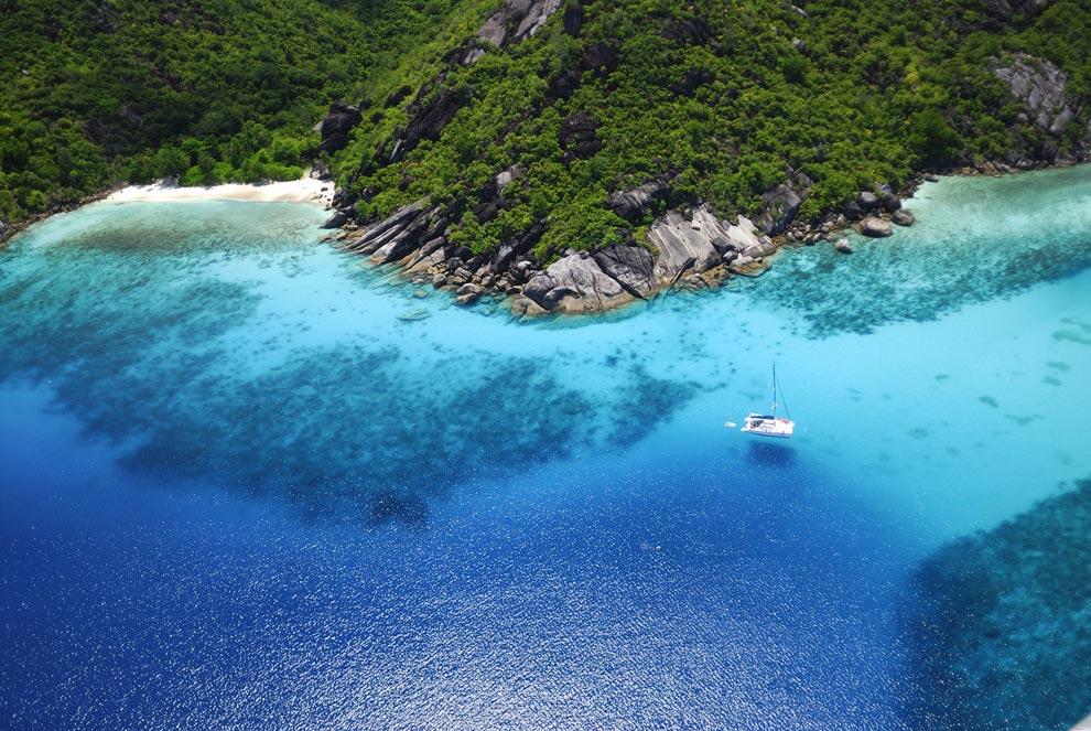 isla seychelles temperatura oceano: