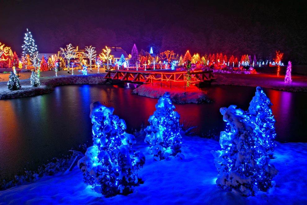 Un cuento de navidad en zagreb - Renos de navidad con luces ...