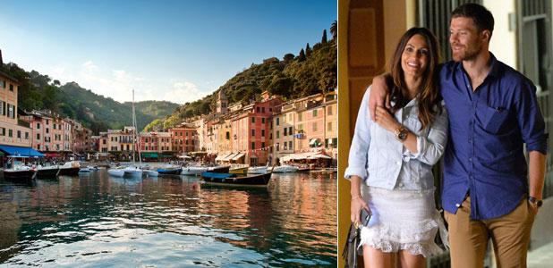 De paseo por Portofino, como Xabi Alonso y Nagore Aramburu