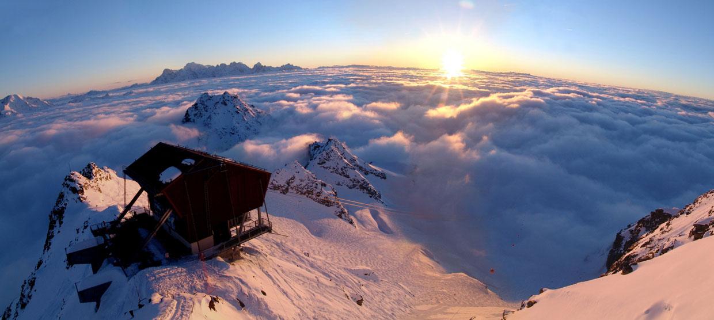 El valle de Nendaz, de punta en blanco y con vistas a los Alpes