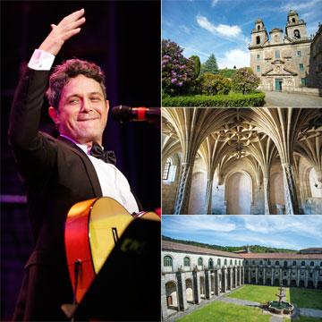 ¿Qué hace Alejandro Sanz en el monasterio de Oseira?
