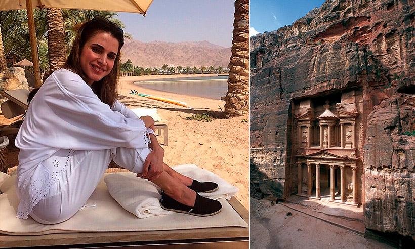 La Reina Rania, una guía de lujo por las maravillas jordanas