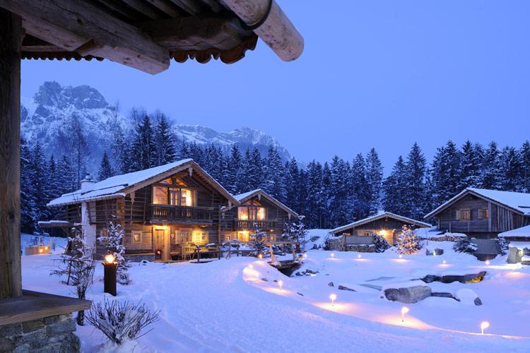 Y después de las fiestas... vacaciones de invierno en una cabaña ...