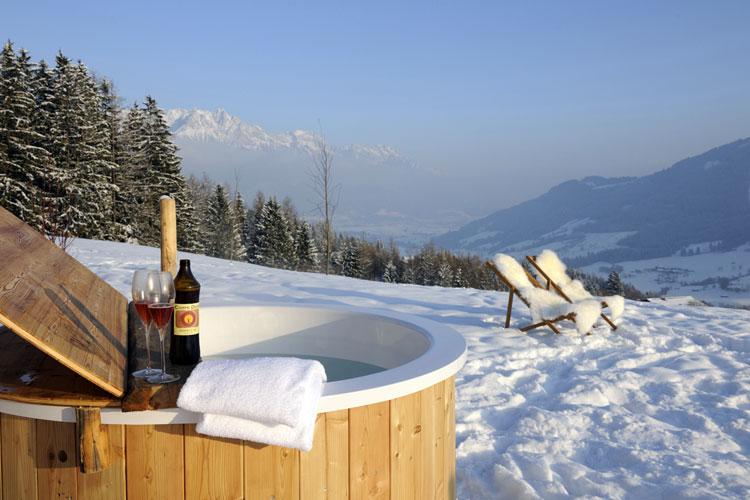 Y después de las fiestas... vacaciones de invierno en una cabaña con los Alpes a los pies