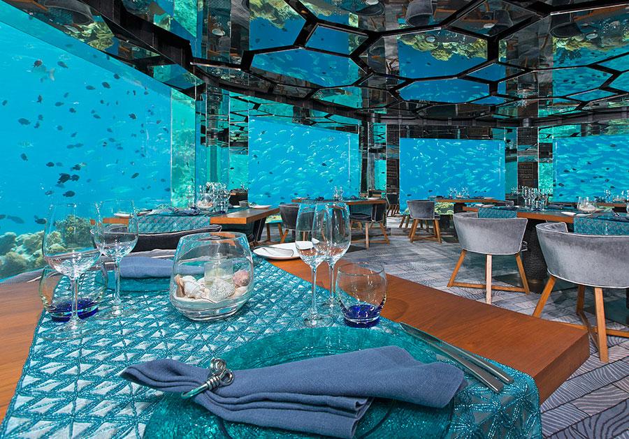 seis restaurantes donde comer bajo el agua foto