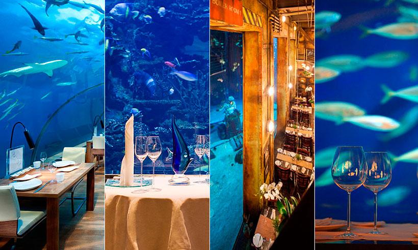 Seis restaurantes donde comer bajo el agua