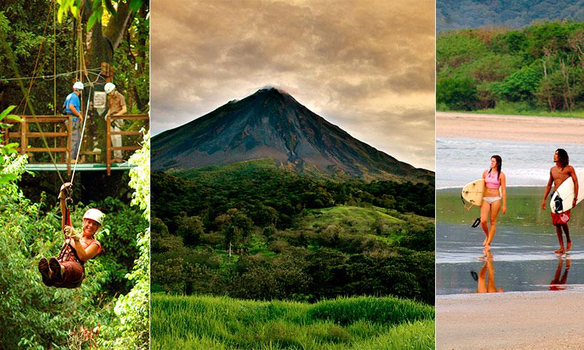 Monos capuchinos, volcanes rugiendo, tirolinas y otras aventuras para disfrutar en familia