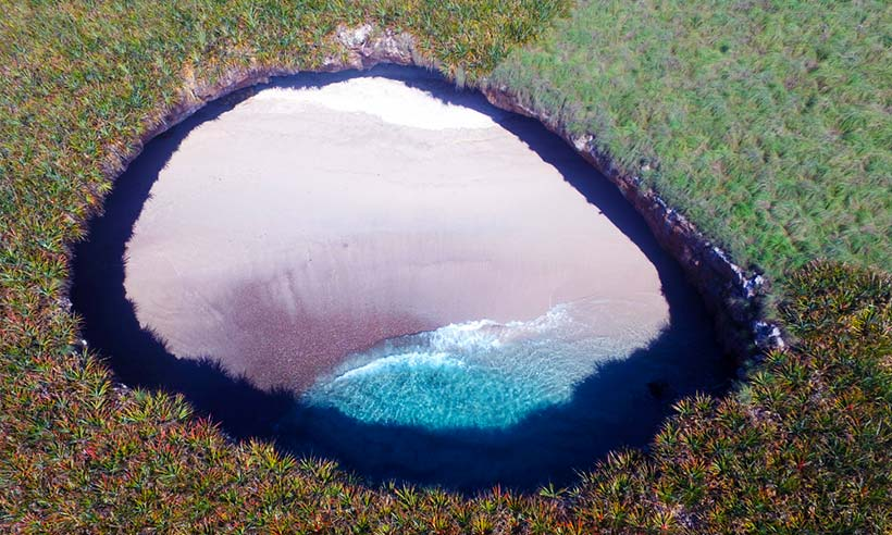 Así es la Playa del Amor, un lugar único en el mundo