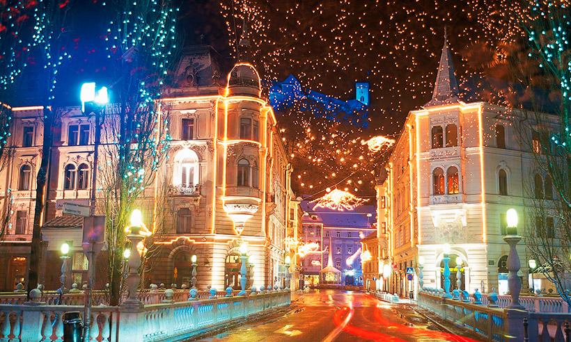 Luces, mercadillos y mucha fiesta… Eslovenia se viste de Navidad