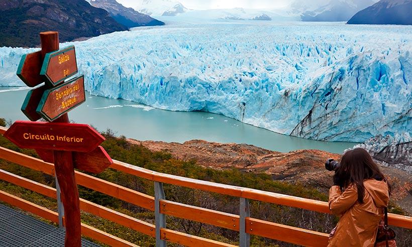 Glamping con vistas al glaciar en la Patagonia argentina