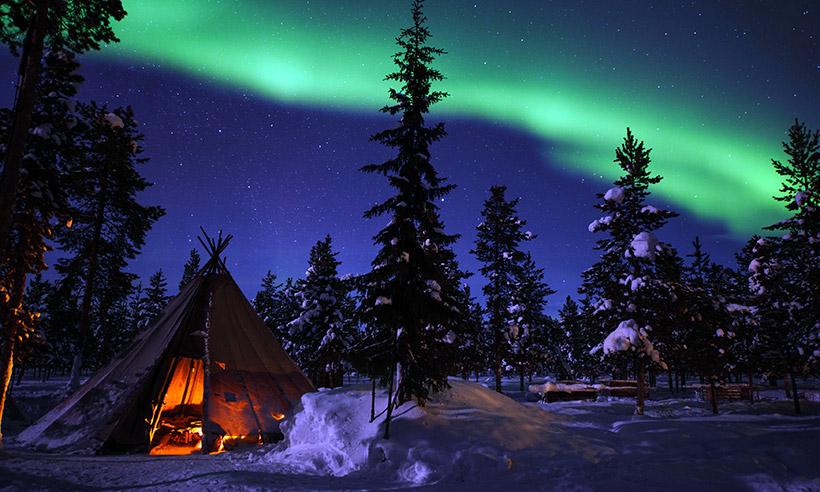 Paisajes de postal en el invierno nórdico