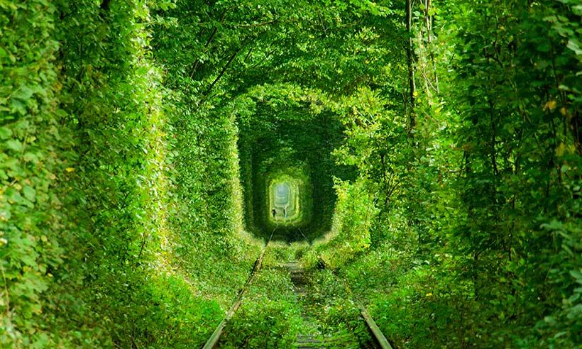 El túnel del amor, el preferido de los enamorados