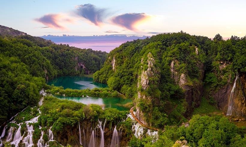 Resultado de imagen de parque nacional de los lagos de plitvice – croacia