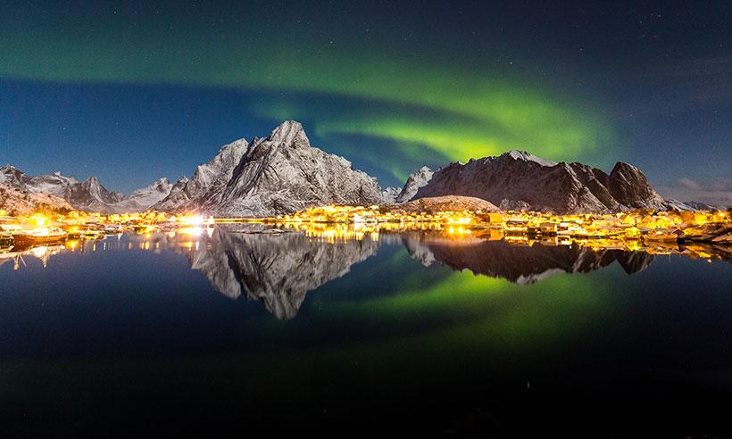 Noruega bajo el manto mágico de las auroras boreales
