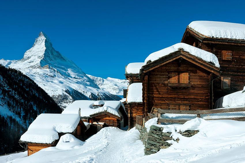 Zermatt un pueblo con mucho glamour en los alpes suizos y sin coches foto - Casas en los alpes suizos ...
